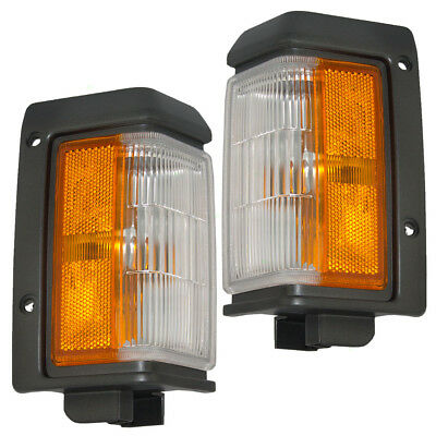 New Pair Set Front Signal Side Marker Light Lamp for Nissan Pickup Truck SUV