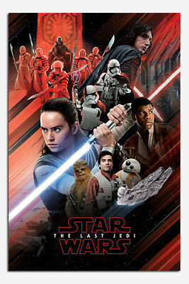 Star Wars The Last Jedi Red Montage Poster New - Maxi Size 36 x 24 Inch
