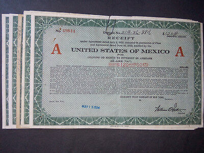 Lot 8 UNITED States MEXICO 1922
