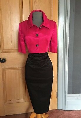 Beautiful Condici Pink/black Mother Of The Bride Dress And Jacket, Size 12