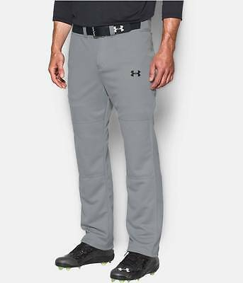 Under Armour Men's Gray UA Clean Up Open Relaxed Fit Baseball Pants
