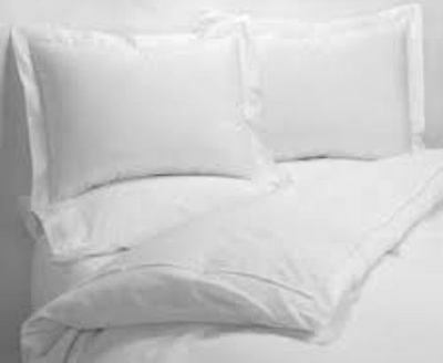 Hotel 220 Thread Egyptian Cotton Rich Plain White Extra Width&Length Flat Sheets