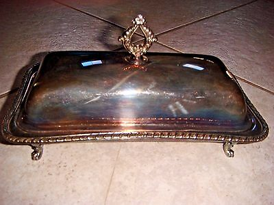Silver Plated Butter Dish by Crescent Silver Company
