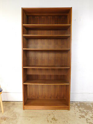 Vintage Heavy Duty Industrial Quality Danish Modern Teak Bookcase Made in Israel