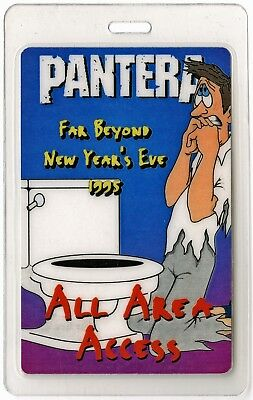 Pantera authentic 1995 concert Laminate Backstage Pass Far Beyond New Year's Eve