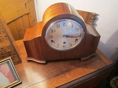 Antique Whittington/westminster Working Mantel. Clock , Either Chiming Or Silent
