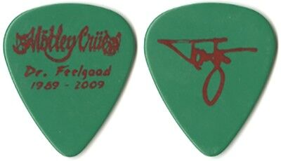 Motley Crue Tommy Lee 2009 Dr Feelgood 20th Anniversary red/green Guitar Pick