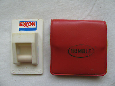 Humble Exxon Oil Gas Travel Clothes Line Tiny Clothes Pins Note Holder Fun Cute