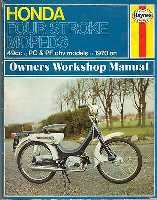 Honda Pf50 Graduate,novio,amigo,pc50 K1,moped Haynes Workshop Manual 1970-1977