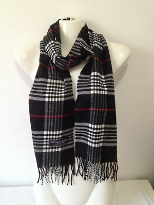 Wholesale 12Pcs 100% Cashmere Scarf Made In Scotland Plaid Black Super Soft