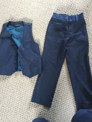 Boys Smart Next Suit Trousers And Waistcoat Age 6