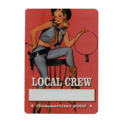 Bob Dylan authentic Local Crew 2002 tour Backstage Pass