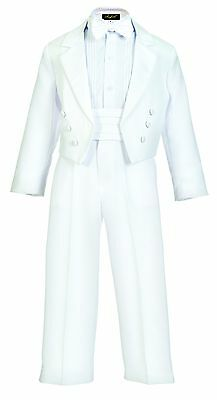 Black White tuxedo with tail toddler boy communion ring bearer recital luxury