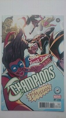Champions # 1  -Nm  Exclusive Third Eye Variant  2016  Scarce