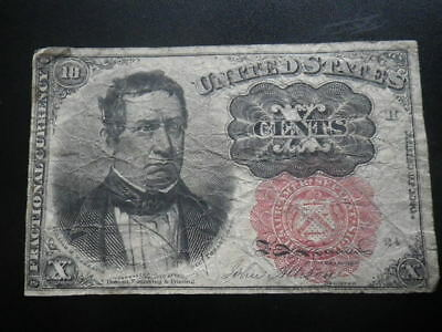 United States of America 1874 10c Cents Fractional Currency Banknote