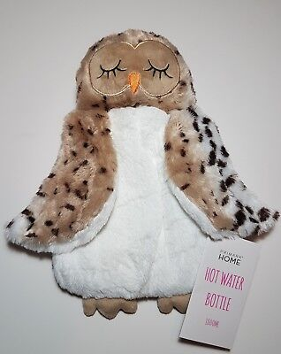 Owl Cover with Hot Water Bottle 3D Soft Plush Primark NEW BNWT