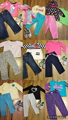 Girls Clothes Sz 12-18M Fall Winter Outfits  Lot Of 27 Pc