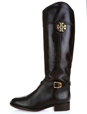3e57f9b072112 Authentic TORY BURCH ELOISE Dark Brown Leather Knee High Boots Size. 6.5 M   495