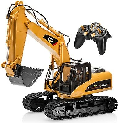 Remote Control Excavator Tractor Electric Construction Lights Sounds Kids Toy