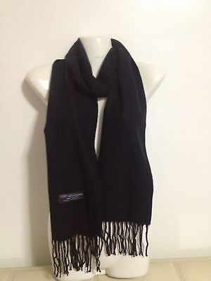 Wholesale 12Pcs 100% Cashmere Scarf Made In Scotland Solid Black Super Soft