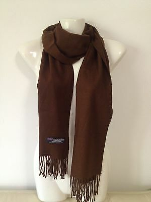 Wholesale 12Pcs 100% Cashmere Scarf Made In Scotland Solid Brown Super Soft