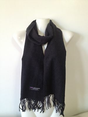 Wholesale 12Pcs 100% Cashmere Scarf Made In Scotland Solid Choco Gray Super Soft