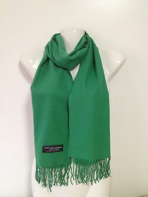 Wholesale 12Pcs 100% Cashmere Scarf Made In Scotland Solid Green Super Soft