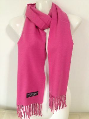 Wholesale 12Pcs 100% Cashmere Scarf Made In Scotland Solid Hotpink Super Soft
