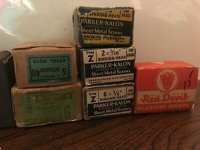Lot of Vintage Hardware and Screws 1940s and 1950s