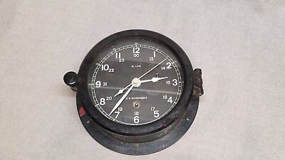 Vintage M. Low US Government Military Bakelite Ships Boat Clock