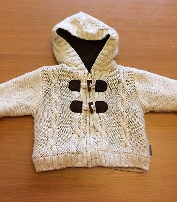 Baby Boy Thick Cardigan/coat 0-3 Months