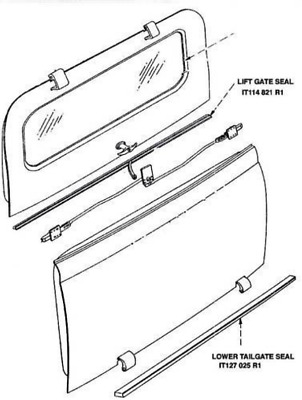 52-57 Travelall Lift Gate Seal