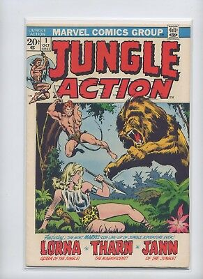 Jungle Action #1 (1972) Marvel, Solid Nice First Issue, See Scans for Condition