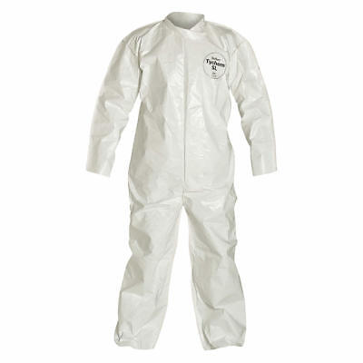 DuPont-TY122S Disposable 3XL Elastic Wrist, Bootie and Hood White Coverall Suit