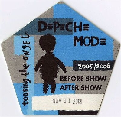 Depeche Mode authentic Aftershow 2005-2006 Touring the Angel Backstage Pass