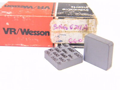 New Surplus 5Pcs. Vr/wesson Sng 634A  Grade: 660  Carbide Inserts