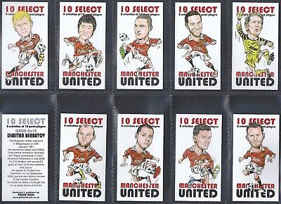 Neill-Full Set- 10 Great Players (10 Cards) Football Manchester United - Exc+++