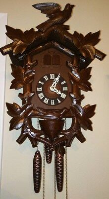 Hubert Herr Cuckoo and Quail clock - fully reconditioned and beautiful!