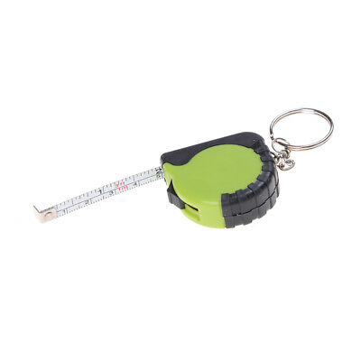 Portable Key Chain 1m Retractable Ruler Centimeter/Inch Tape Measure NB