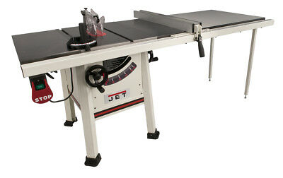 """JET 708495K 10"""" Proshop Tablesaw PLUS 52"""" Fence, Cast Iron Wings New"""