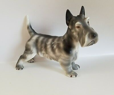 Vintage Porcelain Coventry USA Scotty Dog Figurine 5.25 X 6.50 Inches