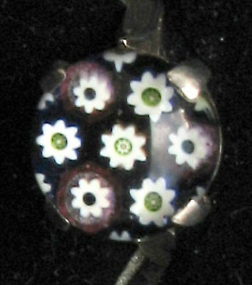 Vintage Paul Ysart Caithness Silber Ring Millefiori Paperweight