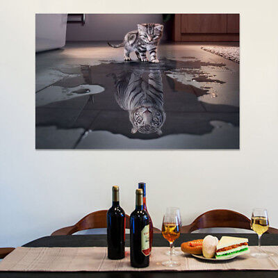 Modern Cat Type Unframed Wall Art Picture Print Painting Canvas Home Decoration