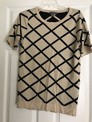 Womens A Pea in the Pod Maternity Beige/Black Sweater Top Size Large