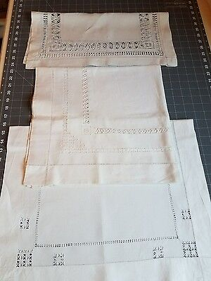 Antique Fine Cotton Linens Nice Pieces for Upcycling