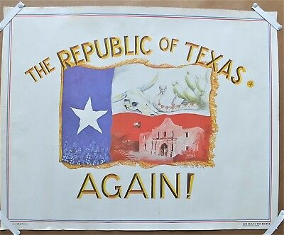 THE REPUBLIC OF TEXAS AGAIN! Vintage Sam Smith 1979 Poster
