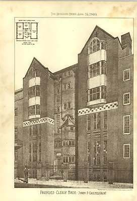 1903 Proposed Clergy House Sidney Caulfield Architect