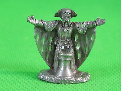 Spooniques HM1510 Pewter Miniature Fantasy Figure Wizard with Crystal Ball #14