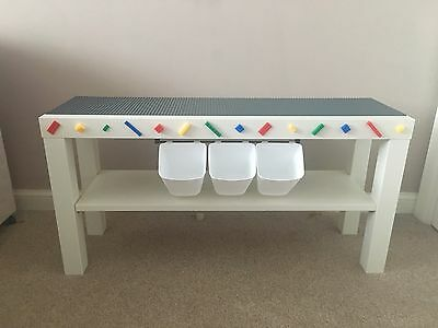 Lego Themed Baseplate Play Building Brick Table Christmas Gift Personalised Rail