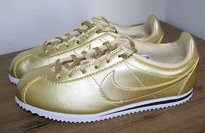 Nike Classic Cortez Metallic Gold Youth / Women's Sneakers SIZE 5.5Y NEW
